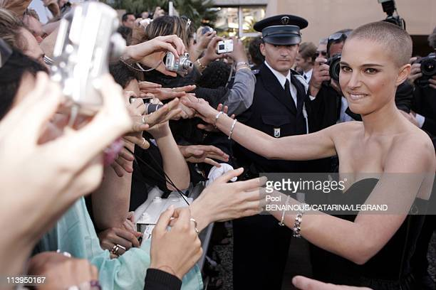 58th Cannes Film Festival stairs of 'Star Wars Episode III Revenge of the sith' in Cannes in Cannes France On May 15 2005Natalie Portman dressed by...