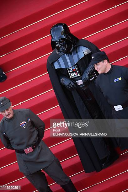 58th Cannes Film Festival stairs of Star Wars III in Cannes in Cannes France On May 15 2005Dark Vador