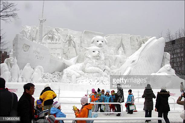 58Th Sapporo Snow Festival In Japan On February 06 2007 From February 6 to 12 hundreds of snow statues and ice sculptures line the streets of Sapporo...