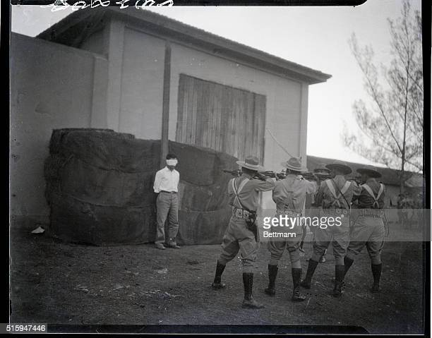 5/9/1935Santa Clara Cuba An exclusive picture made in the dawn of May 8th showing a Cuban Army firing squad firing the volley into the body of Jose...