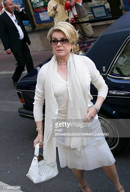 59th Cannes Film Festival Catherine Deneuve at the screening of 'Antonio Vivaldi' at the Church Mont Voyage in Cannes France on May 21 2006Catherine...