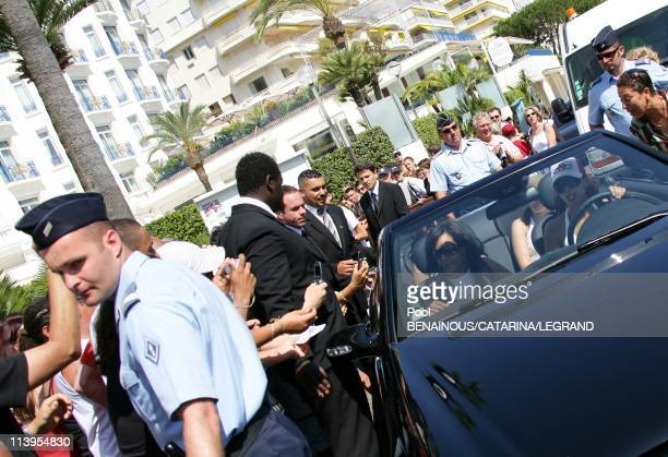 59th Cannes Film Festival Exlusive Amel Bent left the Martinez hotel in Cannes France on May 27 2006