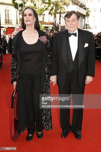 59th Cannes Film Festival Opening Ceremony Stairs of The Da Vinci Code In Cannes France On May 17 2006Claudine Auger and a friend