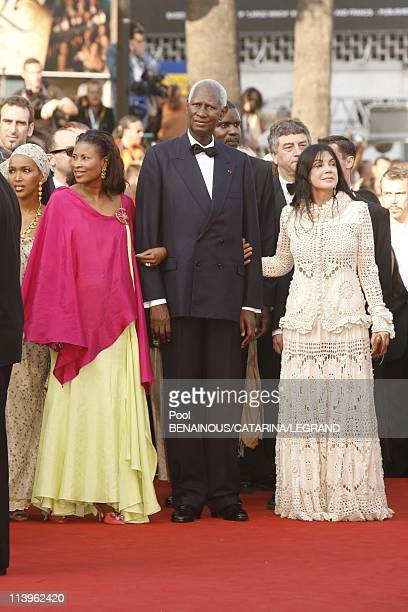 59th Cannes Film Festival Opening Ceremony Stairs of 'The Da Vinci Code' In Cannes France On May 17 2006Carole Laure and Abdou Diouf