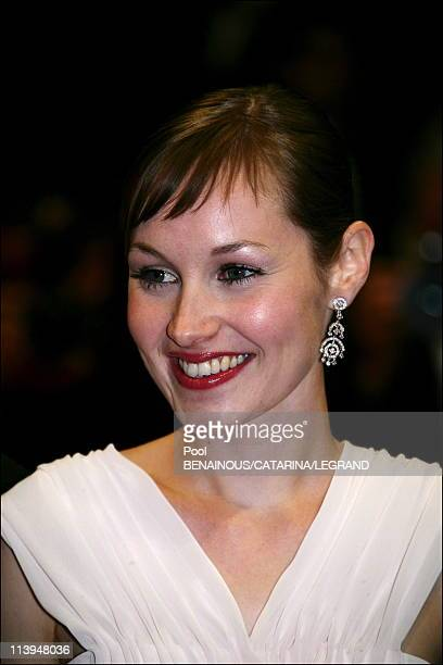 59th Cannes Film Festival stairs of 'Flandres' in Cannes France on May 23 2006Adelaide Leroux