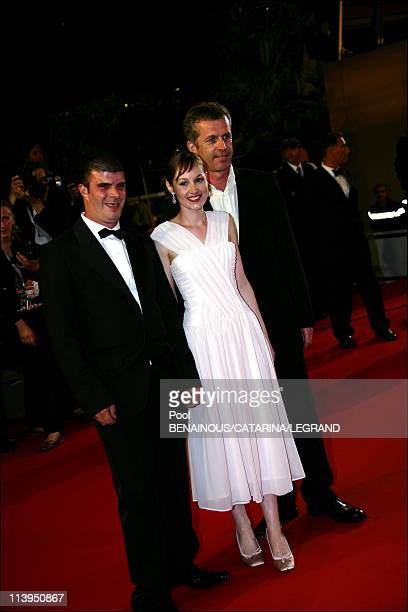 59th Cannes Film Festival stairs of 'Flandres' in Cannes France on May 23 2006Samuel Boidin Adelaide Leroux and Bruno Dumont