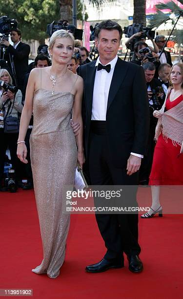 """59th Cannes Film Festival: Stairs of """"Marie Antoinette"""" in Cannes, France on May 24, 2006-Melita Toscan du Plantier Bruno Gassiot."""