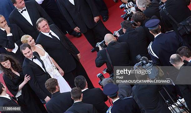 59th Cannes Film Festival Stairs of Quand j'etais chanteur in Cannes France on May 26 2006Actress Cecile de France actor Gerard Depardieu actress...