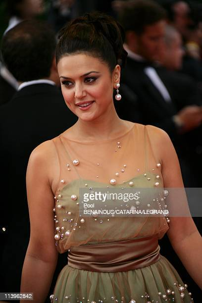 59th Cannes Film Festival Stairs of The wind that shakes the Barley in Cannes France On May 17 2006Actress Preity Zinta