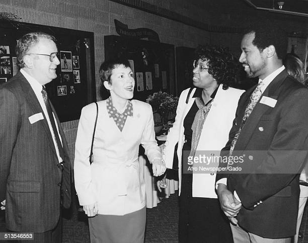 59th Governor of Maryland Parris Glendening Ben Carson Candy Carson Frances Hughes Bruce Miller and orchestra members Glenwood Maryland 1995