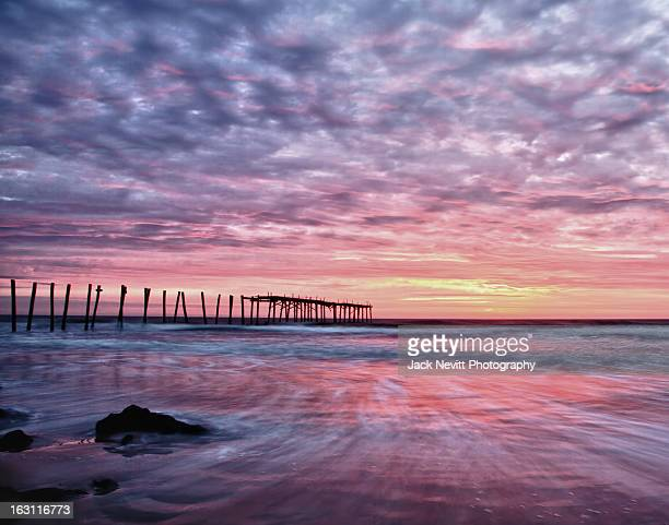 59th st pier ocean city maryland - ocean city maryland stock pictures, royalty-free photos & images