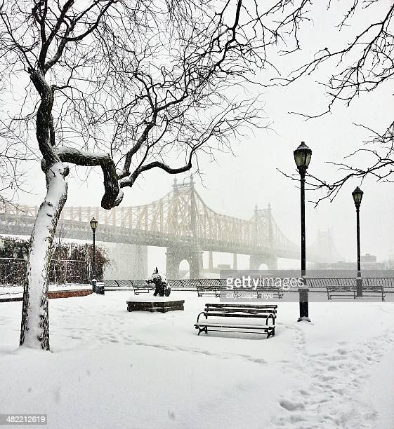 59th Street Bridge in snow, New York, America, USA