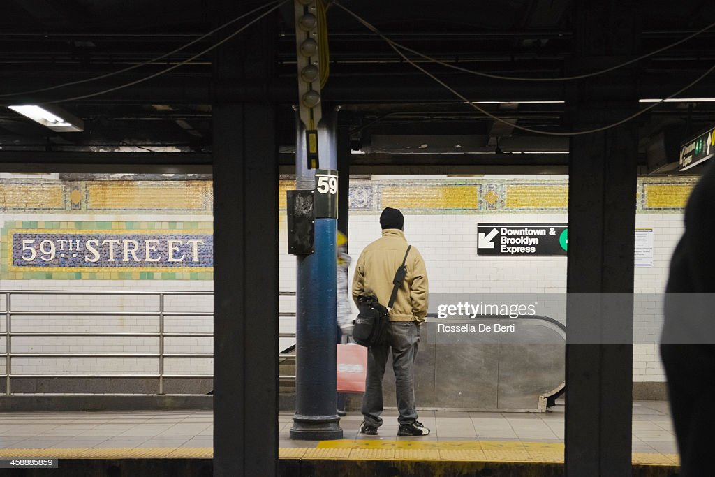 59th Street Subway Station Stock Photo