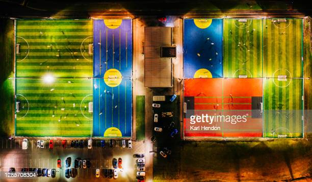 5-a-side football pitches from above, soccer - club football stock pictures, royalty-free photos & images