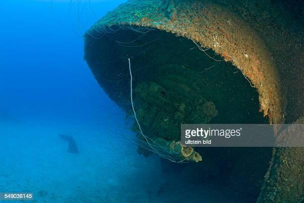 Inch Gun of USS Arkansas Battleship, Marshall Islands, Bikini Atoll, Micronesia, Pacific Ocean