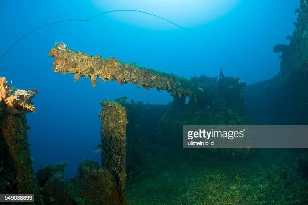 Inch Gun on Port Side of USS Saratoga, Marshall Islands, Bikini Atoll, Micronesia, Pacific Ocean