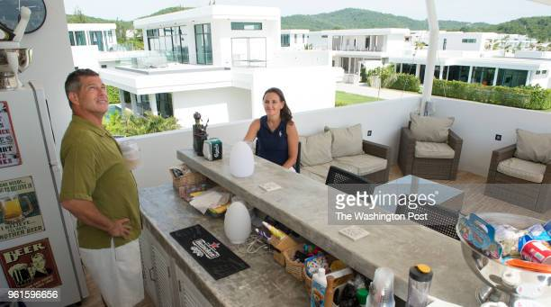 Jeffrey Camp and his wife MariAnn Kubharek Camp enjoy their rooftop bar area on May 5 2018 in Hun Hin Thailand