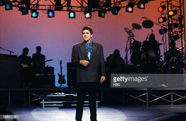 LETTERMAN 5th Anniversary Episode 604 Pictured Comedian Jay Leno on February 7 1987