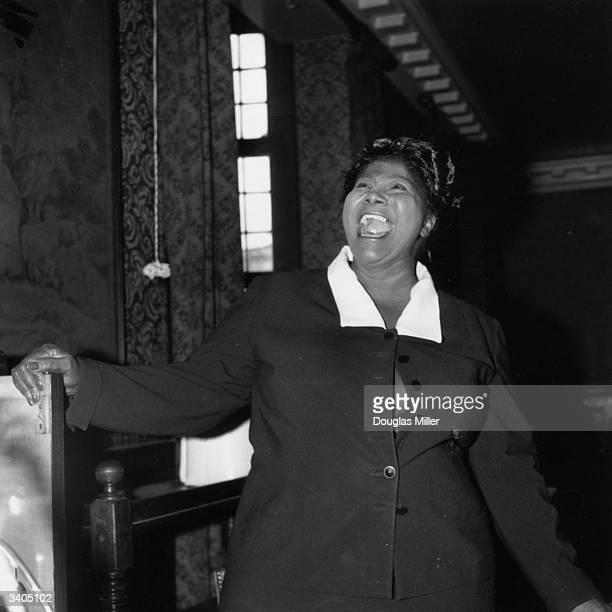 American gospel singer Mahalia Jackson during a rehearsal for her European tour in London