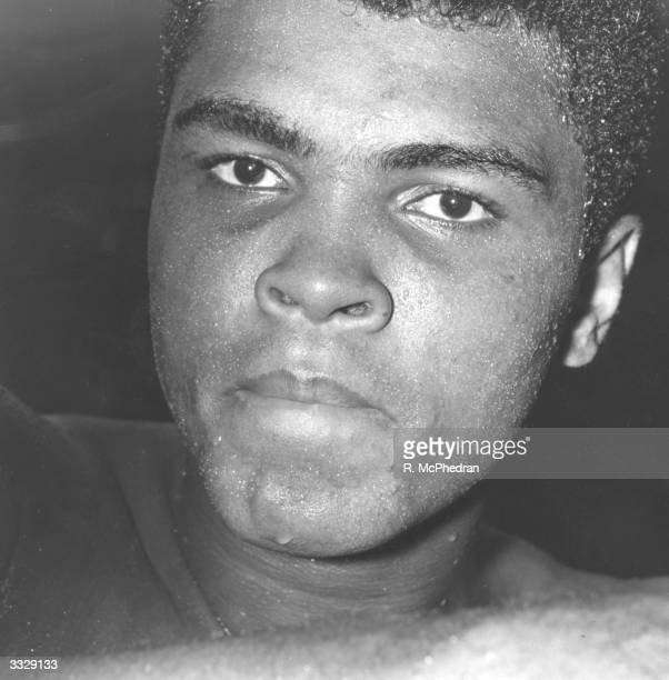 US boxer Muhammad Ali born Cassius Marcellus Clay during a training session for his fight against Brian London