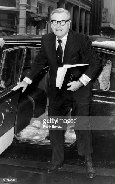 Governor of New York and later VicePresident of the United States Nelson Rockefeller arriving at Westminster City Hall to have talks on the problems...