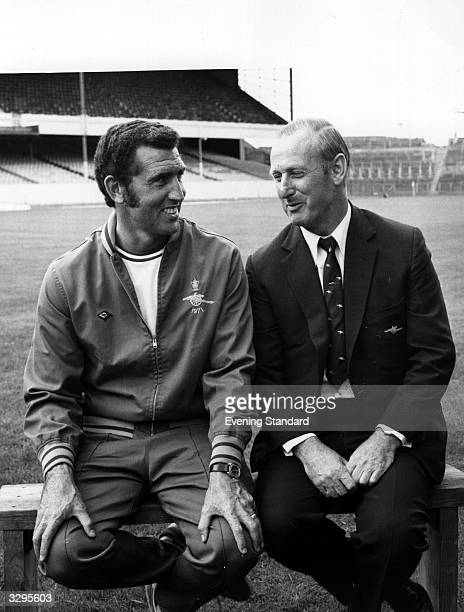 The Arsenal Football Club Coach Bobby Campbell talking to Manager Bertie Mee