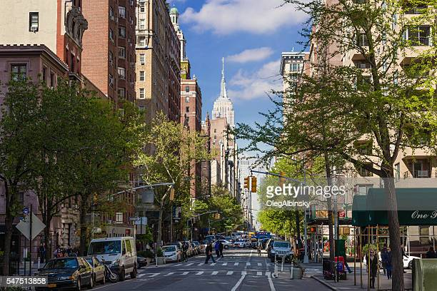 5th Avenue and Empire State Building, Manhattan, New York.