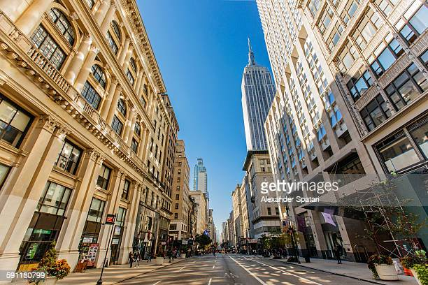 5th Avenue with Empire State Building, New York