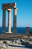 5th century bc propylaeum acropolis lindos
