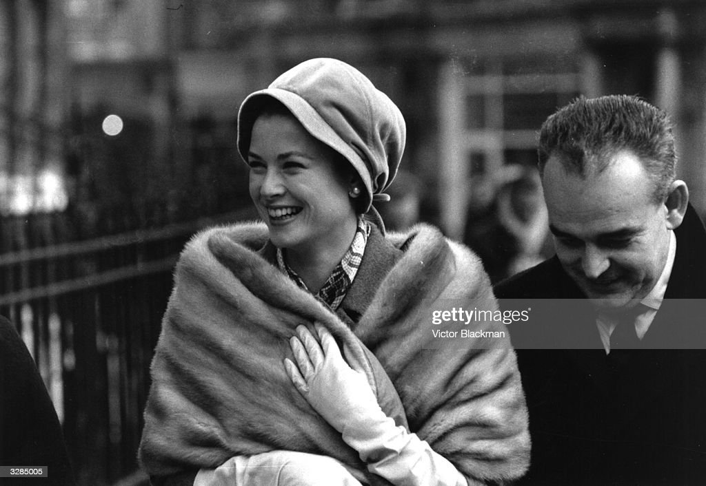 Princess Grace (formerly Grace Kelly) and Prince Rainier of Monaco shopping in London's West End.
