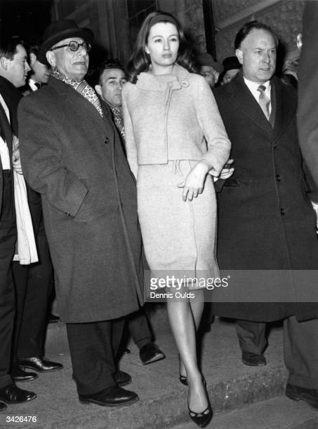 Christine Keeler arriving at court to stand trial for obstructing the course of justice in the case of Aloysius 'Lucky' Gordon who was imprisoned for...