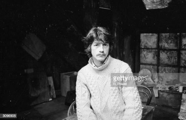 English actor John Hurt on set at the Garrick Theatre.