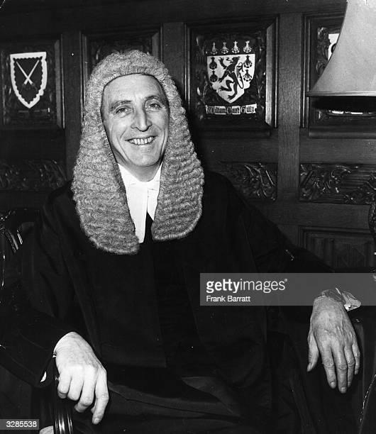 Mr George Thomas the new speaker of the House of Commons in his robes at Speakers House