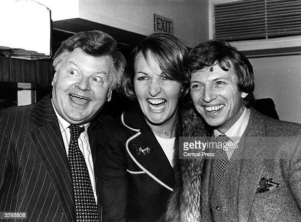 Benny Hill, Penelope Keith and Tommy Steele after receiving their awards for ITV Personality, best TV Personality and Showbusiness Personality...