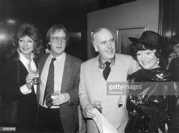 ITV's Personalities of the Year winners George Cole and Dennis Waterman stars of the 'Minder' series with actress Rula Lenska and Penny Cole