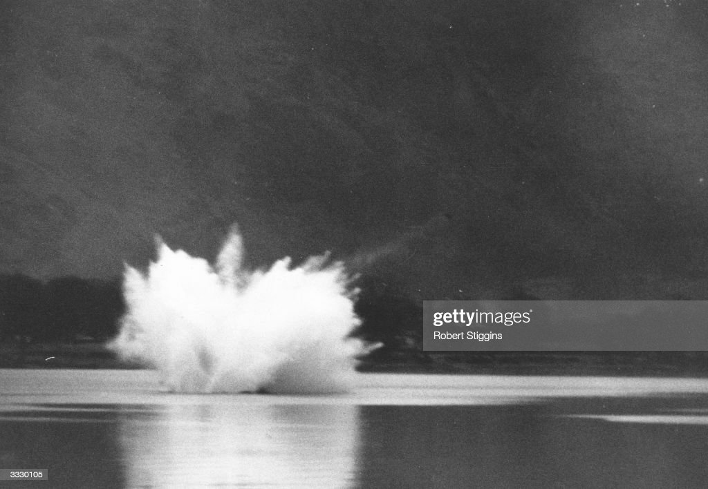 British racing driver Donald Campbell's fatal crash whilst attempting to break 300mph on water. He was killed when his Bluebird turbo-jet hydroplane crashed on Coniston Water, Cumbria, England.