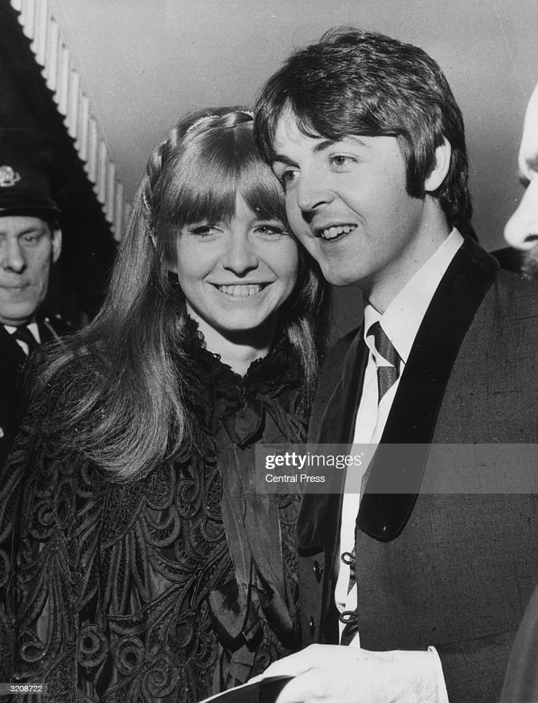 Beatle Paul McCartney And His Girlfriend Jane Asher Arrive At The London Pavilion For Premiere