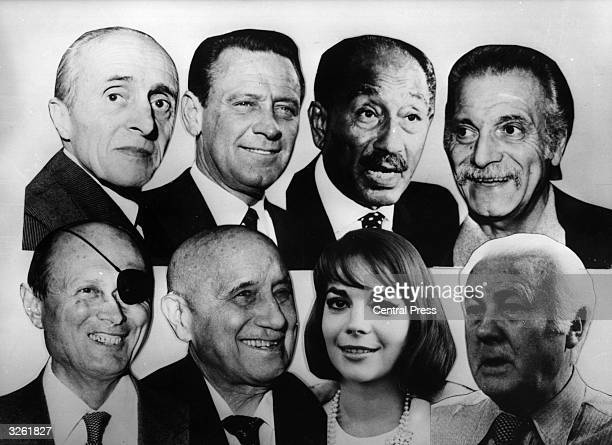 Eight celebrities who died in 1981 top row from left Rene Clair William Holden Anwar Sadat and Georges Brassens Bottom row from left Moshe Dayan Jean...