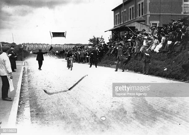 Oscar Godfrey wins the Isle of Man Senior Tourist Trophy Race on an Indian
