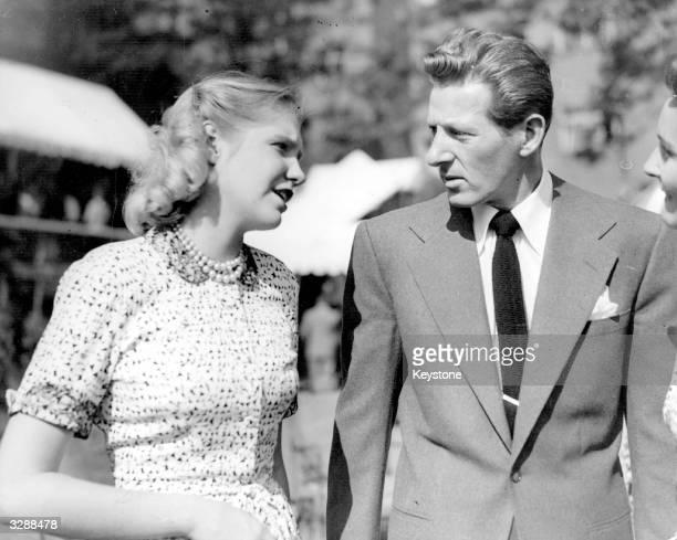 Danny Kaye , born David Daniel Kaminski, US actor, comedian and singer with Miss Sharman Douglas, the daughter of the US Ambassador in London....