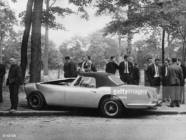 The scene of the car crash in the Bois de Boulogne Paris in which millionaire and ex Dominican Diplomat Porfirio Rubirosa was killed Police said that...