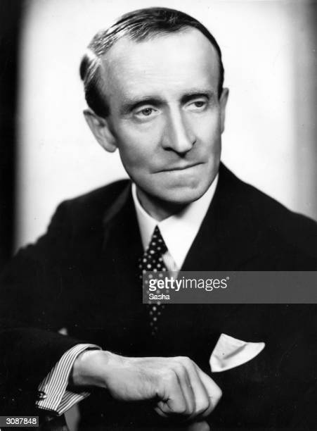 Author and diplomat John Buchan when Governor General Designate of Canada. Famous for his counter-espionage thrillers such as 'The Thirty Nine Steps'.