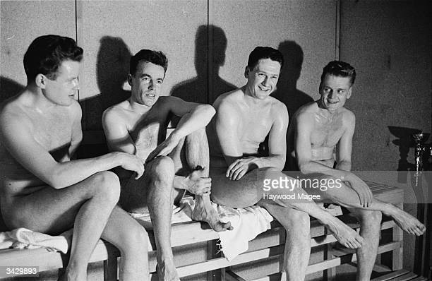 A group of young men pay a visit to a sauna in the classy London borough of Kensington Original Publication Picture Post 7175 The Sauna Comes To...