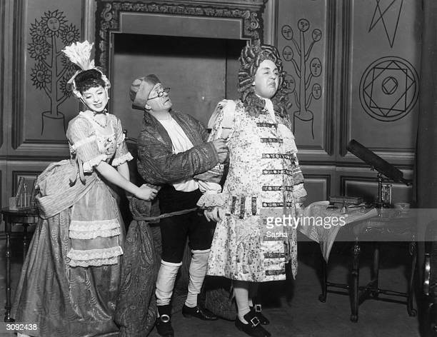 English actor Charles Laughton and his actresscomedienne wife Elsa Lanchester in 'Love For Love' at Sadler's Wells Theatre London