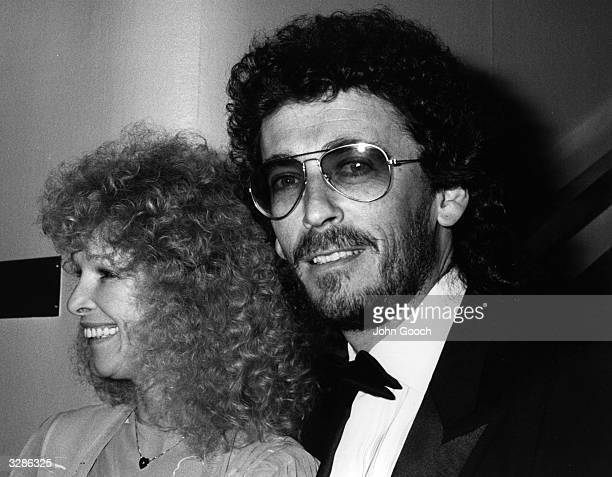 The actor Robert Powell and his wife Babs Lord at the BAFTA Awards ceremony London