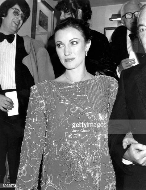 The actress Jane Seymour at the BAFTA Award ceremony at the Grovesnor Hotel London