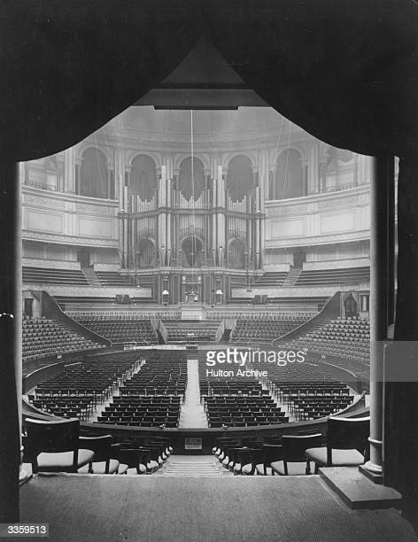 Interior of the Royal Albert Hall London built 18671871 in memory of Prince Albert