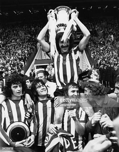 Sunderland captain Bobby Kerr with the FA Cup after his team had become the first second division club to win the competition since 1931 Sunderland...