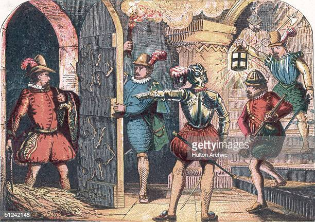 5th November 1605 English conspirator Guy Fawkes is arrested whilst attempting to blow up the Houses of Parliament in protest against antiCatholic...