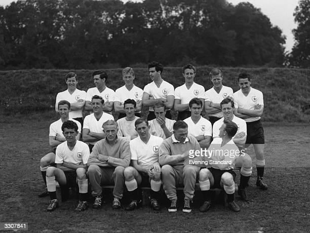 The 1961/62 season 'Double'winning Tottenham Hotspur team Dave Mackay Baker Hopkins Norman Ryden Bobby Smith Hills Allen Henry Hollowbread Bill Brown...